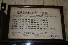 Bramer's bowling team information from Dec. 1940