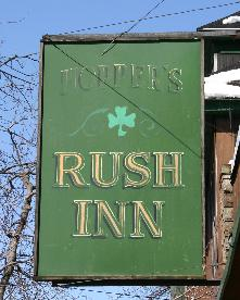"Hopper's Rush Inn, 2104 Seneca St., 825-9389. A dark, beloved dive where pretense vanishes. Serving corned beef sandwiches March 13-17. Intriguingly aged decor includes working phone booth with intact folding door, Buffalo-made Beverator beer cooler and a Fighting Irish sign in lights. ""Stop back St. Patrick's week,"" cajoled Robert Hopper, tending bar. ""We'll guarantee your safety out of South Buffalo"