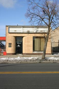 690 Fillmore Avenue: Buuilt in 1941; Designed by Bley & Lyman. Built as a branch of the Buffalo Industrial Bank, this small art moderne gem was the first drive in bank in Buffalo and only the second in the eastern US.