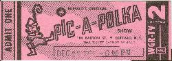 WGR-TV's Pic-A-Polka: Ticket to December 22, 1963 show