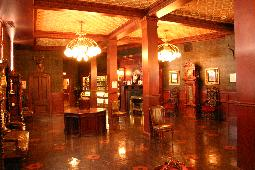 Main lobby is furnished with period antiques and features the Utica Club archives.
