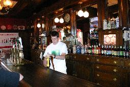 20-Foot mahogany bar from the old Ulster Hotel in Kingston, NY
