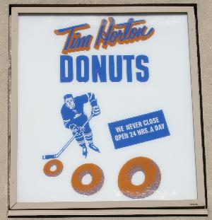 Tim Horton's #1 feature a replica of the original 1964 sign