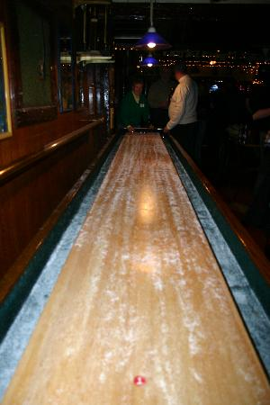 One of the last remaining Bar shuffleboards in Buffalo can be found at Talty's