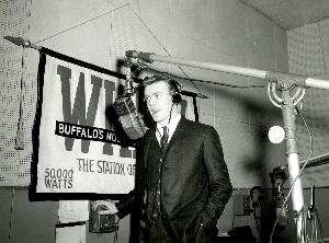 A young Tommy Shannon inside the main studios at 1430 Main Street
