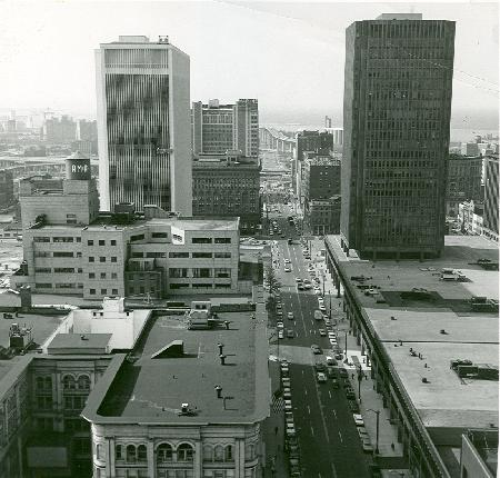Buffalo 1969. Urban renewal has reshaped the downtown core.