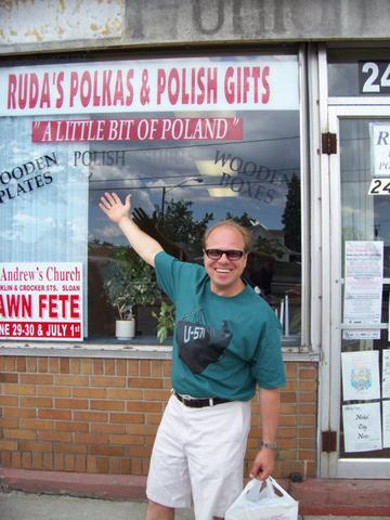 Maxwell Truth buys the last of the stock on the last day of Ruda's Records - June 30, 2007.