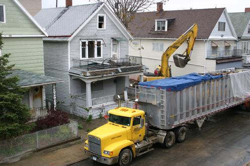 218 Gibson comes down (May 2010). Could this be the fate for other structures on Gibson and Lombard Streets?