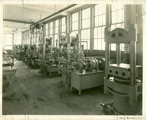 Factory floor of B.F. Oshei, Inc.