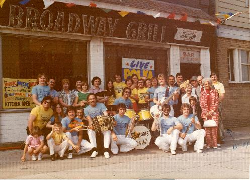 """Down at the Friendly Tavern""...The Legendary Broadway Grill, Buffalo, New York 1977. Pictured used on cover of famous Dyna-tones polka album. Henry Mazurek purchased the Grill from Fred and Irene Sciupider in 1976.  Sold the bar to Greg Harezga and Dennis Marciniak. Mazurek recalls as one of the greatest ""Grill 'Moments"" the 10th Anniversary Party in 1986. �5 days of merriment and mayhem with friends from all parts of the country including local musicians and out of town guests."""