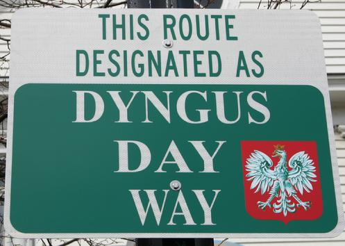DID YOU KNOW? In 2010, the City of Buffalo named the stretch of Fillmore Avenue between Peckham and Broadway as Dyngus Day Way. This sign can be found in front of the Adam Mickiewicz Library.