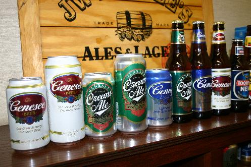Traditional Brands of the Genesee Brewery: Genesee, Genesee Light, Genny Cream Ale