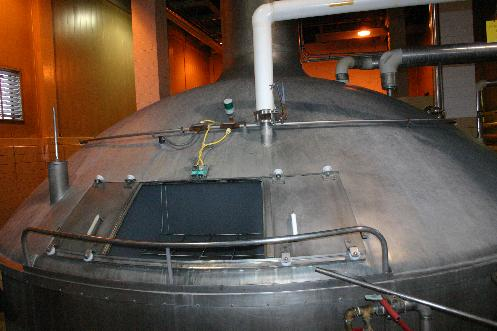 "The main brew kettle in the ""new"" brew house."