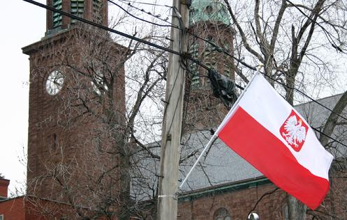 Flags in Polonia District: April 2011