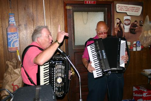 Live polka music during a Forgotten Buffalo Tour at the R&L Lounge