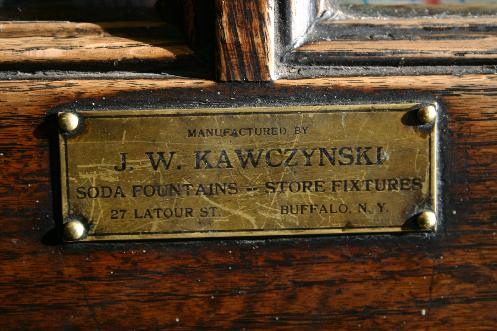 The vintage cabinetry was made in Buffalo by J. W. Kawczynski