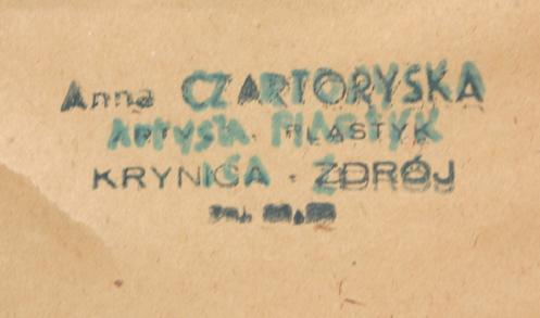 Found on back of Anna Czartoryska painting