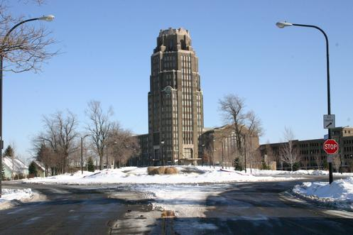 The eastend of Paderewski Drive.... Buffalo Central Terminal