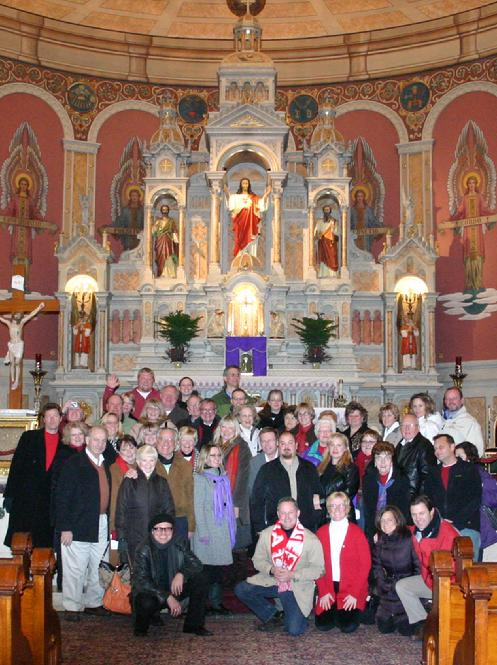 "Forgotten Buffalo's ""Polish Tavern Christmas"" tour stops at Corpus Christi Church in the Historic Polonia District."