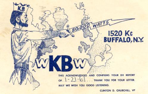 50,000 Watts of power meant that KB's signal could be heard across the Eastern Seaboard, Canada and into Europe.