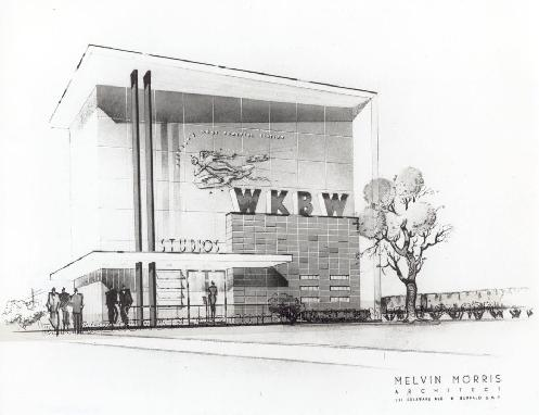 Pre-construction rendering of the Legendary home to Buffalo's Most Powerful Radio Station located at 1430 Main Street.