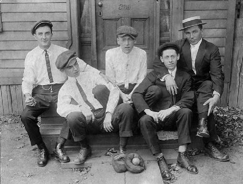 "A group of ""fine Irish boys"" in the First Ward during the 20s."